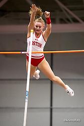 Harvard University<br /> Crimson Elite Indoor track & field meet<br /> womens pole vault, Beard, Zoe