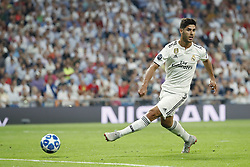 Marco Asensio of Real Madrid during the UEFA Champions League group G match between Real Madrid and AS Roma at the Santiago Bernabeu stadium on September 19, 2018 in Madrid, Spain