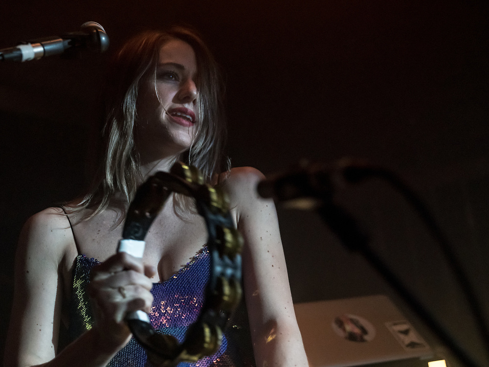 Linda van Leeuwen with Dutch singer-songwriter Blaudzun at Yuca Club in Cologne