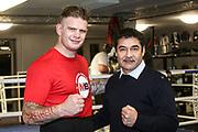 BOXEN: EC Boxing, Training, Hamburg, 07.01.2020<br /> Michael Wallisch und Promoter Erol Ceylan<br /> © Torsten Helmke
