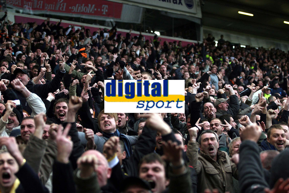 Photo: Mark Stephenson/Sportsbeat Images.<br /> West Bromwich Albion v Wolverhampton Wanderers. Coca Cola Championship. 25/11/2007.Wolve's fans celebrate after Zoltan Gera's penalty is saved