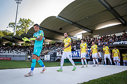 Players of Bravo entering the pitch before football match between NS Mura and NK Bravo in 3nd Round of Prva liga Telemach 2021/22, on 31st of July, 2021 in Fazanerija, Murska Sobota, Slovenia. Photo by Blaž Weindorfer / Sportida