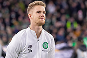 Kristoffer Ajer of Celtic FC during the Europa League match between Celtic and FC Copenhagen at Celtic Park, Glasgow, Scotland on 27 February 2020.