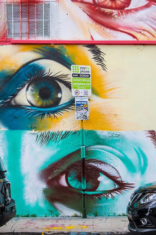 Three-eye mural in Miami's Wynwood district