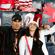 Turkey's supporters during their FIFA World Cup 2014 qualifying soccer match Turkey betwen Estonia at Sukru Saracoglu stadium in Istanbul September 11, 2012. Photo by TURKPIX