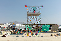 Nice camp facade flower things. My Burning Man 2018 Photos:<br />