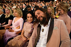 Jason Mamoa and Lisa Bonet during the live telecast of The 91st Oscars® at the Dolby® Theatre in Hollywood, CA on Sunday, February 24, 2019.