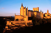 SPAIN, CASTILE, SEGOVIA Alcazar Castle and the Cathedral