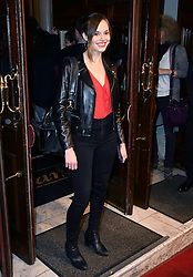 May 29, 2019 - London, London, United Kingdom - Hannah Tointon attends press night for The Starry Messenger following an astronomer who's forced to re-evaluate his life and faith following a catastrophic event at Wyndham's Theatre.. The Starry Messenger press night. (Credit Image: © Nils Jorgensen/i-Images via ZUMA Press)