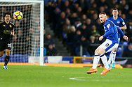 Wayne Rooney of Everton in action. Premier league match, Everton v Leicester City at Goodison Park in Liverpool, Merseyside on Wednesday 31st January 2018.<br /> pic by Chris Stading, Andrew Orchard sports photography.