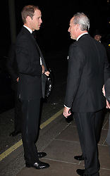 The Duke of Cambridge is welcomed by Kiaran Macdonald, General Manager of the Savoy hotel, at a dinner in aid of the St.Giles Trust, Wednesday, October 17th 2012. Photo by: Stephen Lock / i-Images