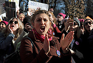 Thousands take part in the Women's March on Jan. 20, 2018, in New York City. (Photo by Matt Smith)