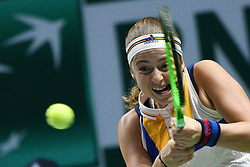 October 24, 2017 - JELENA OSTAPENKO of Latvia competes during the group match against Venus Williams of United States at WTA Finals tennis tournament in Singapore. (Credit Image: © Then Chih Wey/Xinhua via ZUMA Wire)