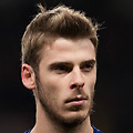 Football - 2012 / 2013 Champions League - Group H: Manchester United vs. CFR Cluj<br /> David de Gea of Manchester United at Old Trafford