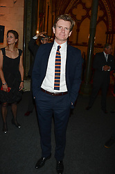 """Downton Abbey actor CHARLES EDWARDS at a private view to view """"The Coronation Theatre: Portrait of Her Majesty Queen Elizabeth II"""" painted by Ralph Heimans held at Westminster Abbey, London on 12th September 2013."""