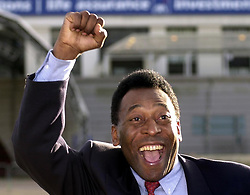 23rd OCTOBER:On this day in 1940 Football legend Pele was born. Former football legend, Pele outside Wembley stadium, North London. Pele will be attending a Salute to Wembley, Final Ball with 2,000 invited guests who are hoping to raise  1 million in aid of the NSPCC FULL STOP Campaign.   *02/11/2000 Wembley stadium may have bid a final farewell to football but the famous twin towers are to have one last musical swan song as Sir Elton John hosts a star-studded charity concert. Pele, who never had the chance to play at Wembley, will kick the final ball.
