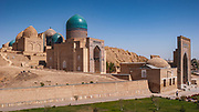 The fascinating Shah-i-Zinda necropolis in the north of Samarkand with buildings from the 9th Century