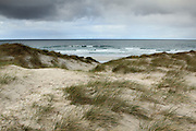 Sand-dunes at the western beach at Eoligarry, Barra, Outer Hebrides, Scotland