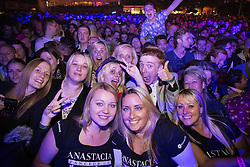 """© Licensed to London News Pictures . 22/08/2014 .  Manchester , UK . Anastacia fans in front of the main stage in the car park . Manchester Pride """" Big Weekend """" in Manchester's """" Gay Village """" today ( 22nd August 2014 ) . Photo credit : Joel Goodman/LNP"""