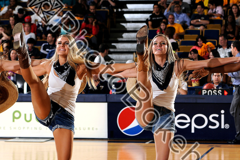 2013 February 07 - FIU Golden Dazzlers performing for the fans. .Florida International University defeated Florida Atlantic University, 84-65, at the US Century Bank Arena, Miami, Florida. .(Photo by: www.photobokeh.com / Alex J. Hernandez) This image is copyright PhotoBokeh.com and may not be reproduced or retransmitted without express written consent of PhotoBokeh.com. ©2013 PhotoBokeh.com - All Rights Reserved