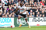 Neeskens Kebano of Fulham sends in a cross during the Sky Bet Championship match at Craven Cottage, London<br /> Picture by Richard Brooks/Focus Images Ltd 07947656233<br /> 18/03/2017