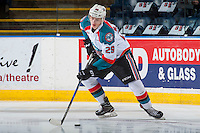 KELOWNA, CANADA - FEBRUARY 10: Nolan Foote #29 of the Kelowna Rockets warms up with the puck on the ice against the Vancouver Giants on February 10, 2017 at Prospera Place in Kelowna, British Columbia, Canada.  (Photo by Marissa Baecker/Shoot the Breeze)  *** Local Caption ***
