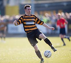 Alloa Athletic's Mark Docherty.<br /> Alloa Athletic 0 v 1 Hearts, Scottish Championship played at Recreation Park, Alloa.