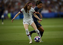 June 28, 2019 - Paris, France - Rose Lavelle (Washington Spirit) of United States and Gaetane Thiney (Paris FCF) of France competes for the ball during the 2019 FIFA Women's World Cup France Quarter Final match between France and USA at Parc des Princes on June 28, 2019 in Paris, France. (Credit Image: © Jose Breton/NurPhoto via ZUMA Press)