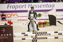 WENZ Lucas (GER) Glossy Carlos<br /> Frankfurt - Festhallen Reitturnier 2017<br /> Preis der Dieter-Hofmann-Stiftung Stilspringen Kl. M Finale 2017 <br /> © www.sportfotos-lafrentz.de