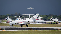 September 6, 2017 - West Palm Beach, Florida, U.S. - Aircraft at PBIA depart as hurricane Irma threatens South Florida. (Credit Image: © Allen Eyestone/The Palm Beach Post via ZUMA Wire)