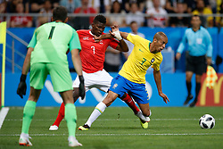 June 17, 2018 - Rostov Do Don, Rússia - ROSTOV DO DON, RO - 17.06.2018: BRAZIL VS SWITZERLAND - Breel Embolo of Switzerland plays the ball with Miranda do Brasil during a match between Brazil and Switzerland valid for the first round of group E of the 2018 World Cup, held at the Rostov Arena in Rostov on Don, Russia. (Credit Image: © Marcelo Machado De Melo/Fotoarena via ZUMA Press)