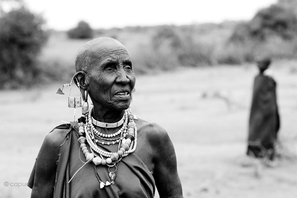 TANZANIA. Longido Mountain Area..August 3rd 2009..Maasai people.