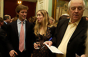 Donald Rice, Eva Rice and Sir Tim Rice. andrew Roberts and Leonie Frieda celebrate the publication of Andrew's 'Waterloo: Napoleon's Last Gamble' and the paperback of Leonie's 'Catherine de Medic'i. English-Speaking Union, Dartmouth House. London. 8 February 2005. ONE TIME USE ONLY - DO NOT ARCHIVE  © Copyright Photograph by Dafydd Jones 66 Stockwell Park Rd. London SW9 0DA Tel 020 7733 0108 www.dafjones.com