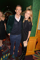 WILL HICKS and EMMA DENNING at the 2nd Bright Young Things Back In London party held at Annabel's, 44 Berkeley Square, London on 11th February 2016.