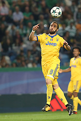 October 31, 2017 - Lisbon, Portugal - Juventus' Argentine forward Gonzalo Higuain in action during the UEFA Champions League football match Sporting CP vs Juventus at the Alvalade stadium in Lisbon, Portugal on October 31, 2017. (Credit Image: © Pedro Fiuza/NurPhoto via ZUMA Press)