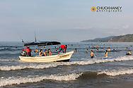 Tourist fishing boat in Sayulita, Mexico