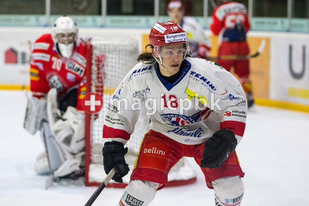 Rapperswil-Jona Lakers forward Toni Szabo is pictured during an Elite B Regular Season ice hockey game between EHC Winterthur and Rapperswil-Jona Lakers in Winterthur, Switzerland, Sunday, Oct. 15, 2017. (Photo by Patrick B. Kraemer / MAGICPBK)