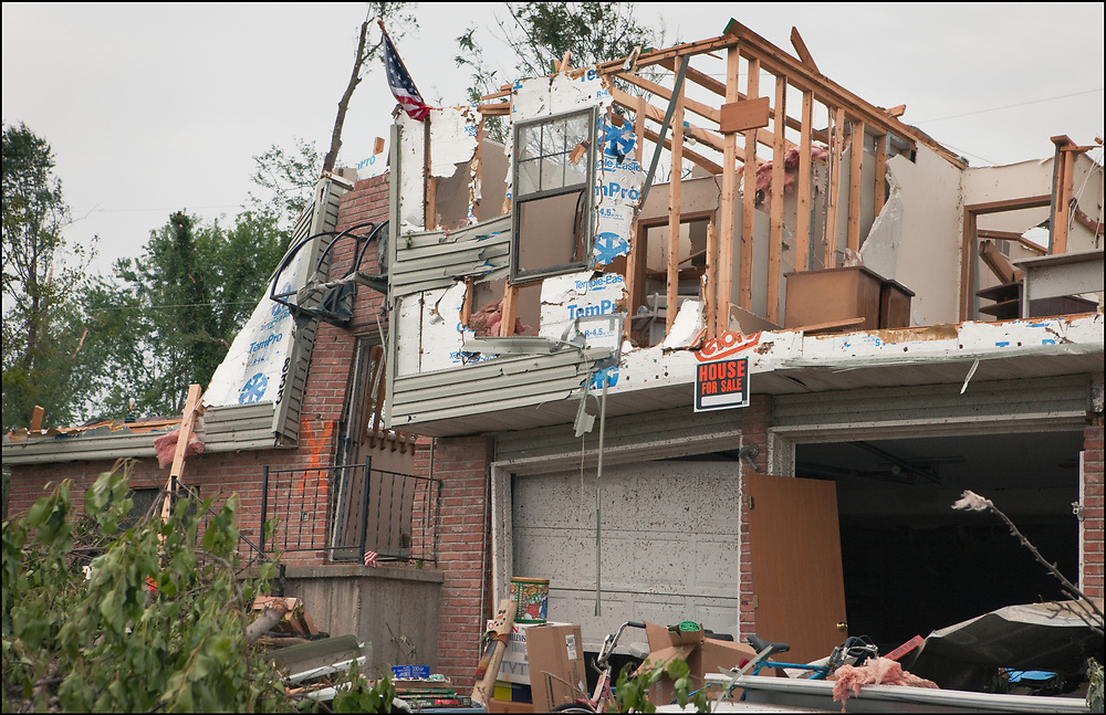 To keep the mood light after and EF-3 tornado destroyed a home in Sedalia, Missouri the resident up a 'House for Sale' sign up.