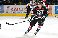 KELOWNA, CANADA, DECEMBER 3: Colton Sissons #15 of the Kelowna Rockets skates on the ice as the Prince George Cougars visit the Kelowna Rockets  on December 3, 2011 at Prospera Place in Kelowna, British Columbia, Canada (Photo by Marissa Baecker/Shoot the Breeze) *** Local Caption ***
