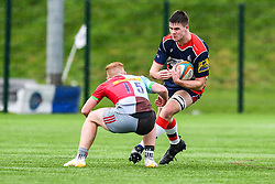 George Brazier of Bristol Academy U18 is tackled by Sunni Jardine of Harlequins Academy U18 - Mandatory by-line: Craig Thomas/JMP - 03/02/2018 - RUGBY - SGS Wise Campus - Bristol, England - Bristol U18 v Harlequins U18 - Premiership U18 League