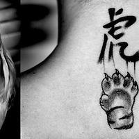 Nederland, Eindhoven, 02-05-2013.<br /> Maud van der Meer, zwemster, met haar tattoo.<br /> Foto : Klaas Jan van der Weij