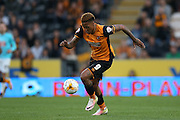 Hull City striker Abel Hernandez (9)  during the Sky Bet Championship play-off 2nd leg match between Hull City and Derby County at the KC Stadium, Kingston upon Hull, England on 17 May 2016. Photo by Simon Davies.