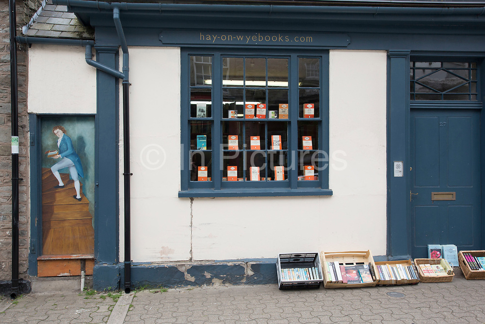 """Hay-on-Wye Books book shop in Hay-on-Wye or Y Gelli Gandryll in Welsh, known as """"the town of books"""", is a small town in Powys, Wales famous for it's many second hand and specialist bookshops, although the number has declined sharply in recent years, many becoming general antique shops and similar."""
