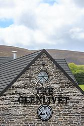 THEMENBILD - Aussenansicht der Glenlivet Whiskey Destillerie bei Ballindalloch, Schottland, aufgenommen am 08. Juni 2015 // Exterior view of Glenlivet whiskey distillery near Ballindalloch, Scotland on 2015/06/08. EXPA Pictures © 2015, PhotoCredit: EXPA/ JFK