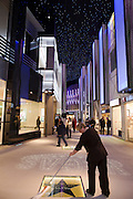 Moscow, Russia, 12/03/2011..A cleaner wipes Robert De Niro's Hollywood star in Vegas, the largest shopping mall in Russia, built by Crocus International, a real estate development company owned and run by Aras Agalarov and his son Emin.