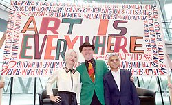 Sadiq Khan, Mayor launches a search for the first ever London Borough of Culture at a ceremony at City Hall, London, Great Britain <br /> 30th June 2017 <br /> <br /> <br /> Justine Simons OBE, Deputy Mayor for Culture and the Creative Industries <br /> <br /> <br /> Bob and Roberta Smith <br /> <br /> The launch moment was marked by the unfurling of a 4 metre long artwork/banner painted by artist Bob and Roberta Smith especially for the launch.<br /> <br /> Sadiq Khan, Mayor London <br /> <br /> <br /> <br /> <br /> Photograph by Elliott Franks <br /> Image licensed to Elliott Franks Photography Services