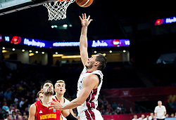 Janis Blums of Latvia during basketball match between National Teams of Latvia and Montenegro at Day 11 in Round of 16 of the FIBA EuroBasket 2017 at Sinan Erdem Dome in Istanbul, Turkey on September 10, 2017. Photo by Vid Ponikvar / Sportida