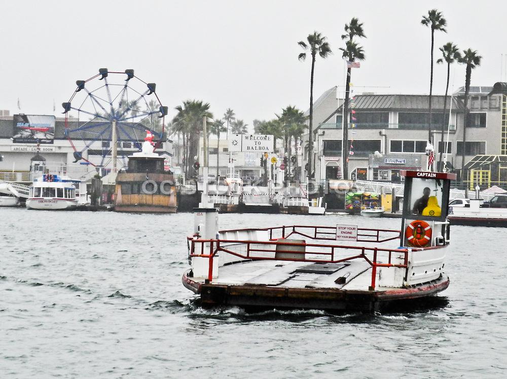 Newport Beach Harbor In The Rain