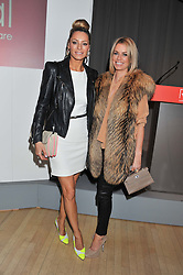 Left to right, TESS DALY and CAROLINE HABIB at the 2012 Rodial Beautiful Awards held at The Sanderson Hotel, Berners Street, London on 6th March 2012.