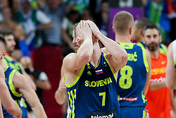 Klemen Prepelic of Slovenia celebrates during basketball match between National Teams of Slovenia and Spain at Day 15 in Semifinal of the FIBA EuroBasket 2017 at Sinan Erdem Dome in Istanbul, Turkey on September 14, 2017. Photo by Vid Ponikvar / Sportida